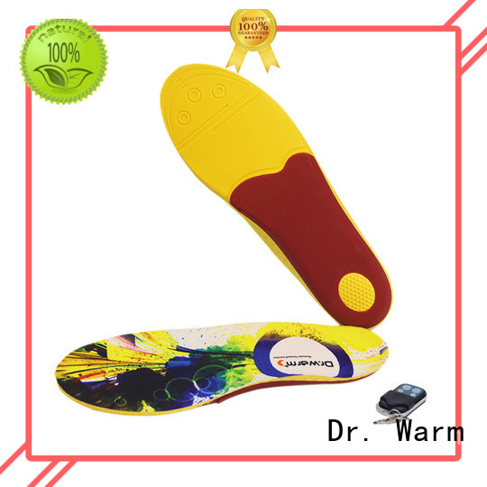 Dr. Warm control remote heated insoles suit your foot shape for indoor use