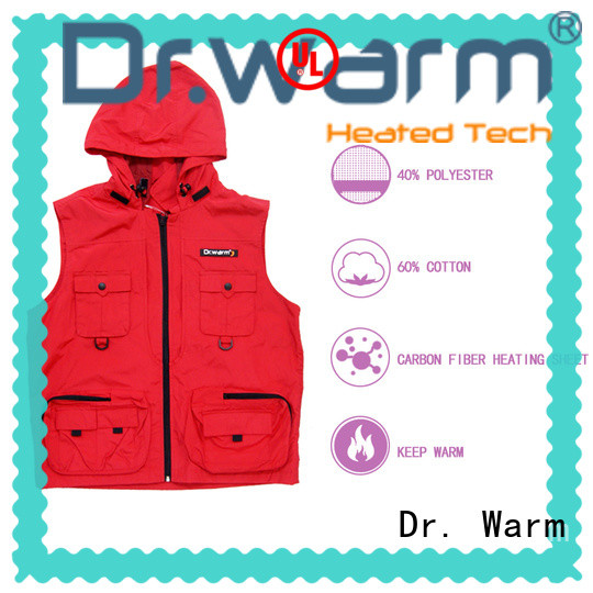 Dr. Warm healthy heated vest mens with prined pattern for outdoor