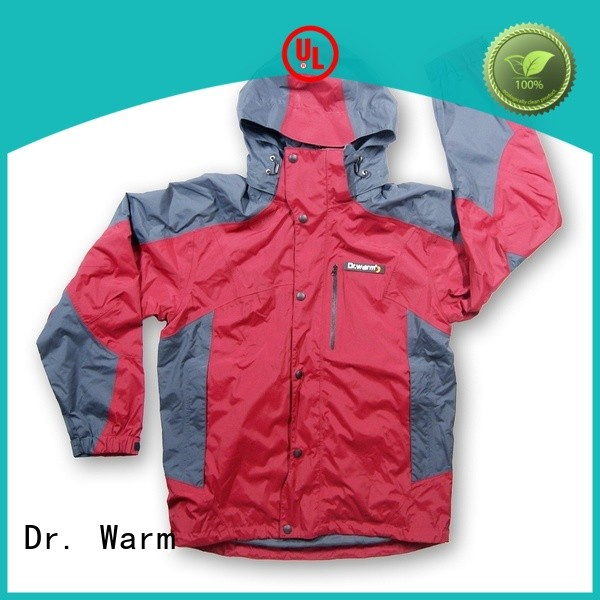 universal women's battery heated jacket with arch support design for indoor use