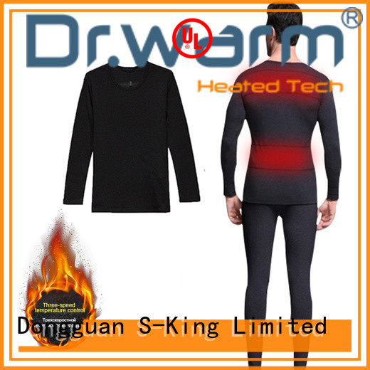 Dr. Warm online battery powered heated long underwear improves blood circulation for home