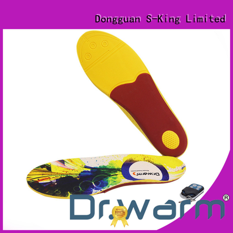 Dr. Warm control heated bluetooth insoles suit your foot shape for ice house