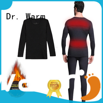Wholesale comfortable battery heated thermal underwear Dr. Warm Brand