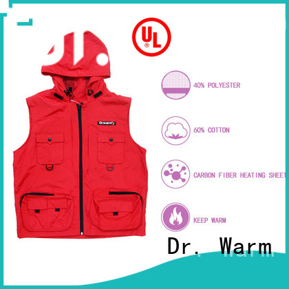 Heated vest fishing hunting riding winter use health care back&breast heating area smart control female warming clothing