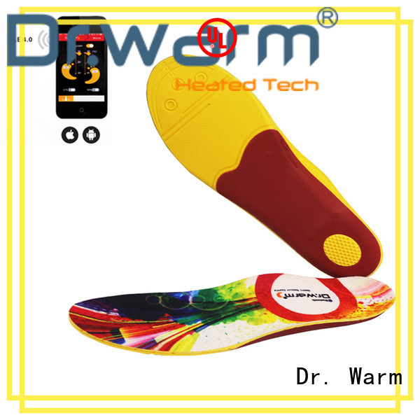 Dr. Warm wire heated insoles fit to most shoes for ice house