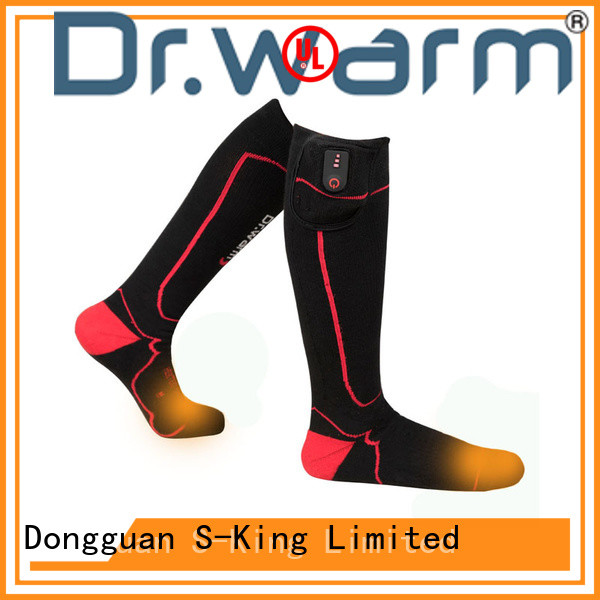 Dr. Warm cotton battery socks keep you warm all day for indoor use