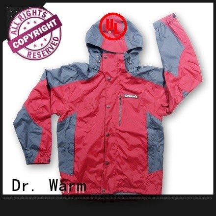 waterproof riding grid battery powered jacket ski Dr. Warm