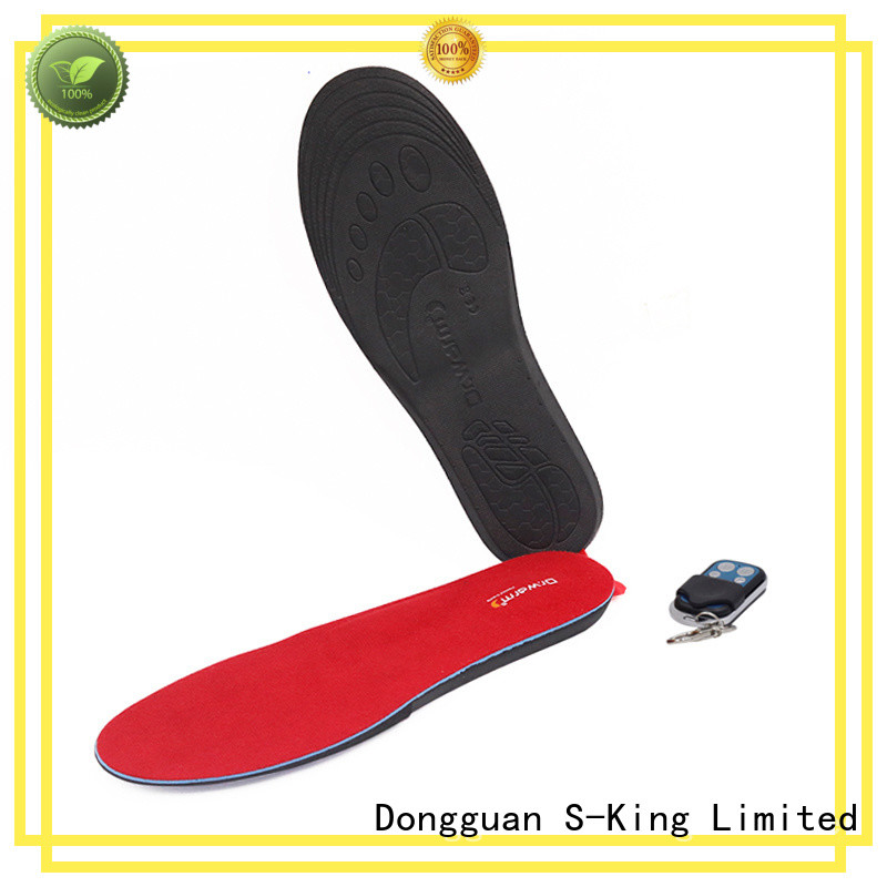 warm battery powered insoles wire suit your foot shape for ice house