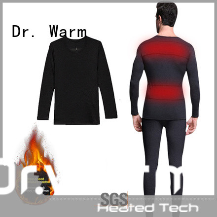 Dr. Warm sports electric heated underwear with prined pattern for indoor use