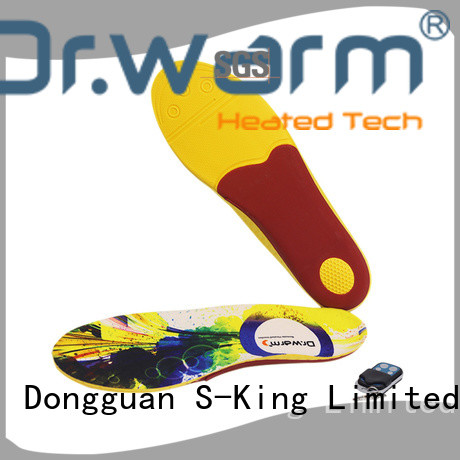 rechargeable best heated insoles control fit to most shoes for outdoor