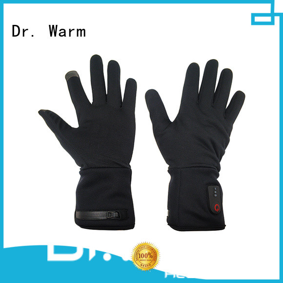 suitable electrical hand gloves skiing with prined pattern for winter