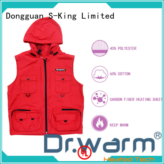 Dr. Warm female electric heated vest with prined pattern for indoor use