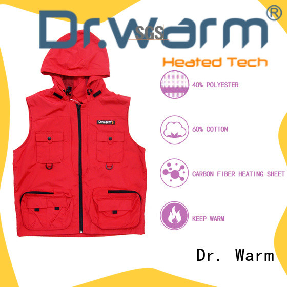 healthy battery heated vest control with prined pattern for indoor use