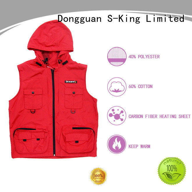 Dr. Warm control rechargeable heated vest with prined pattern for ice house