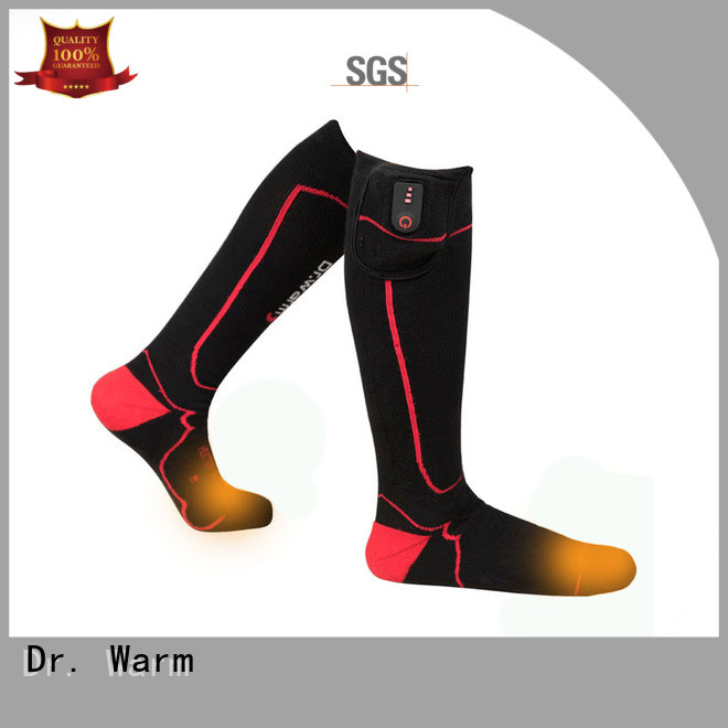 Dr. Warm soft battery operated heated socks improves blood circulation for ice house