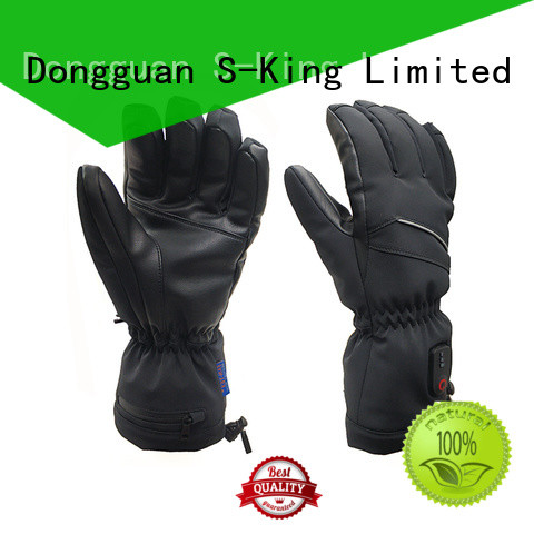 Dr. Warm online electrical hand gloves with prined pattern for winter