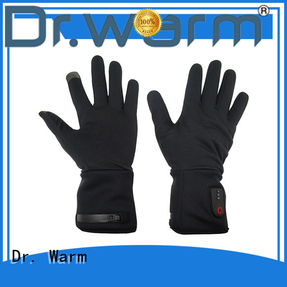 suitable battery heated gloves winter with prined pattern for ice house
