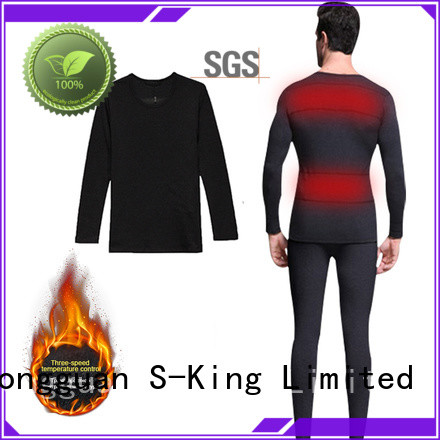 Dr. Warm washable battery heated thermal underwear improves blood circulation for outdoor