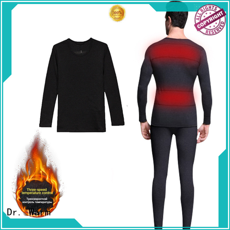 Dr. Warm heating battery heated base layer improves blood circulation for outdoor