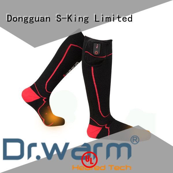 Dr. Warm cotton battery powered socks keep you warm all day for winter