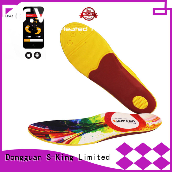 control battery operated insoles biking with cotton for outdoor