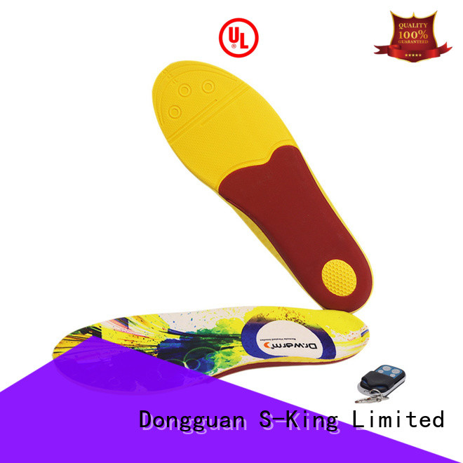 warm remote control heated insoles usb with cotton for outdoor