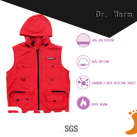 Dr. Warm heated heated winter vest with prined pattern for outdoor