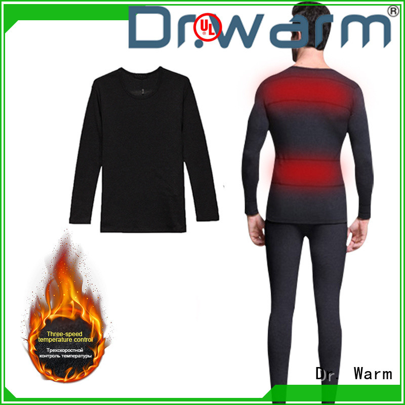 Dr. Warm heating heated thermal underwear on sale for ice house