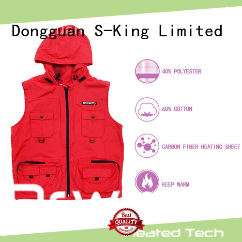 healthy rechargeable heated vest female improves blood circulation for ice house