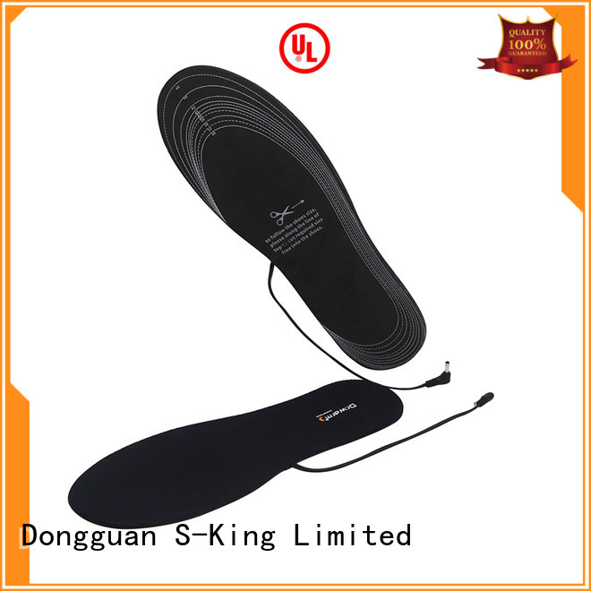 rechargeable battery powered insoles warmer suit your foot shape for ice house