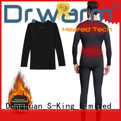Dr. Warm washable electric heated underwear improves blood circulation for winter