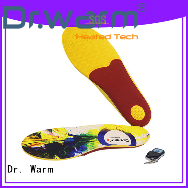 Dr. Warm warm heated insoles for work boots fit to most shoes for home