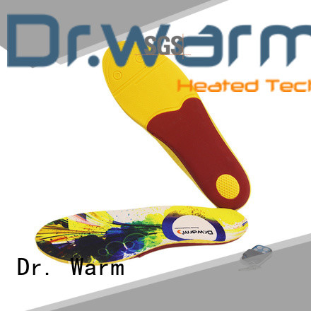 Dr. Warm wire heated ski boot insoles sailing for ice house