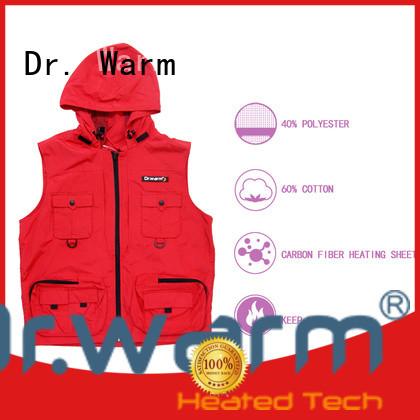 Dr. Warm rechargeable heated vest improves blood circulation for outdoor