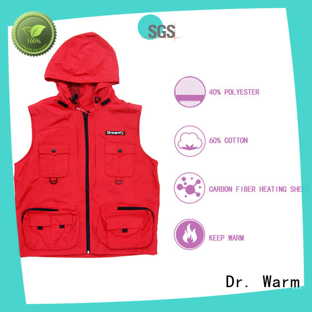 Dr. Warm vest best heated vest with prined pattern for outdoor