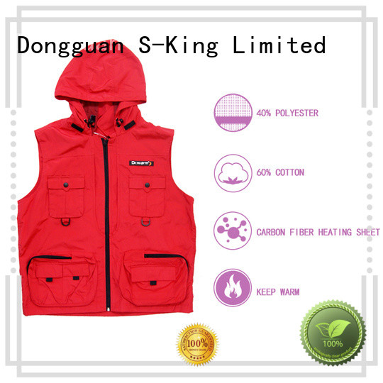 Dr. Warm healthy electric heated vest with prined pattern for ice house
