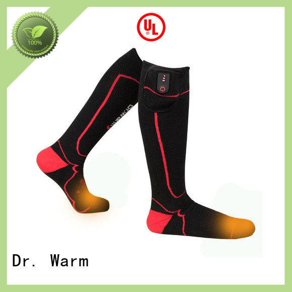 Dr. Warm warm battery powered heated socks with smart design for outdoor