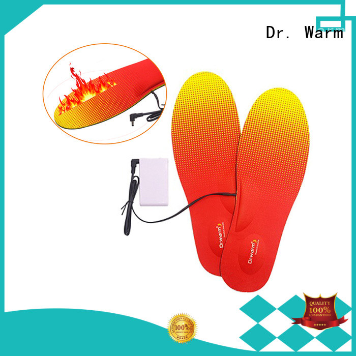 Dr. Warm rechargeable electric insoles suit your foot shape for indoor use