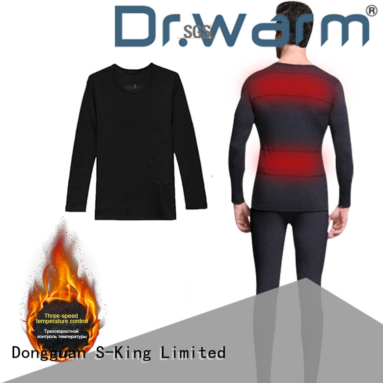 Dr. Warm clothes battery operated thermal underwear improves blood circulation for outdoor