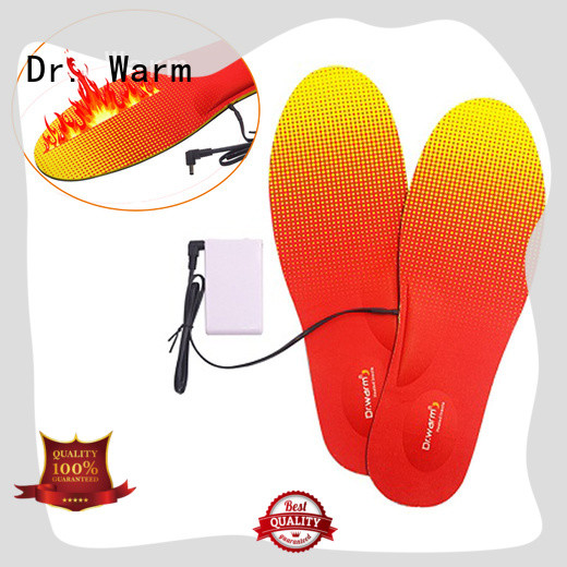 heat moldable insoles control rechargeable wire Dr. Warm Brand company