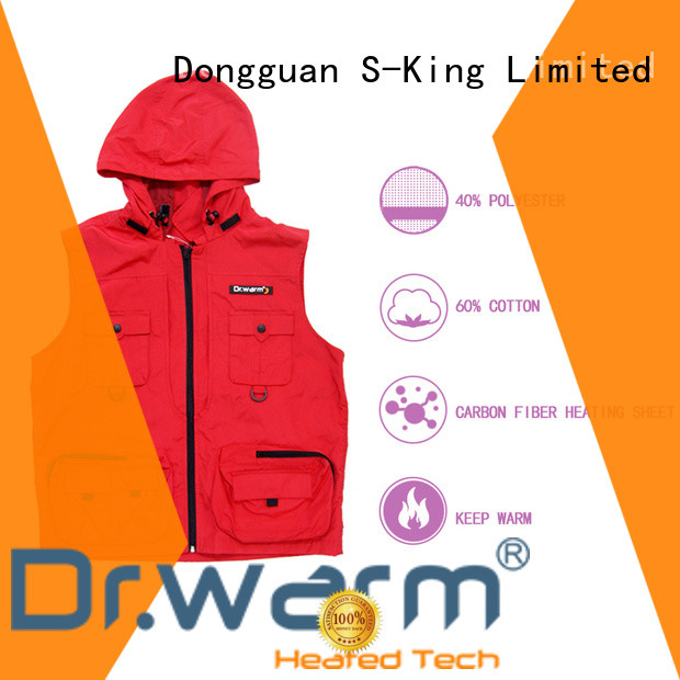 Dr. Warm heating battery powered vest improves blood circulation for winter