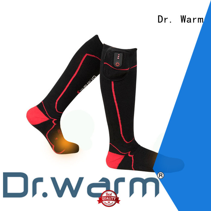 Dr. Warm soft rechargeable heated socks with smart design for indoor use
