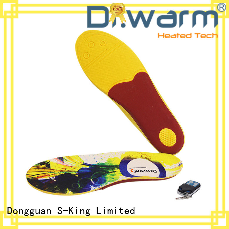 Dr. Warm rechargeable best heated insoles suit your foot shape for ice house
