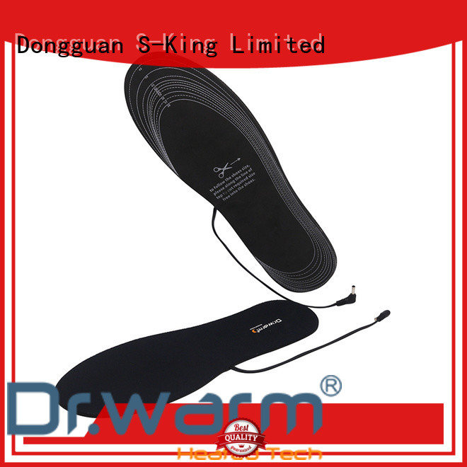rechargeable battery operated insoles biking fit to most shoes for winter