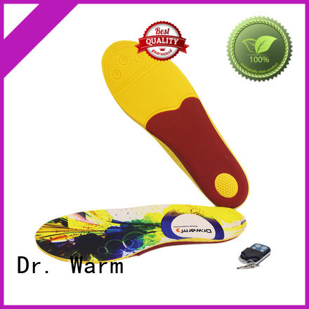 Dr. Warm winter remote control heated insoles with cotton for home