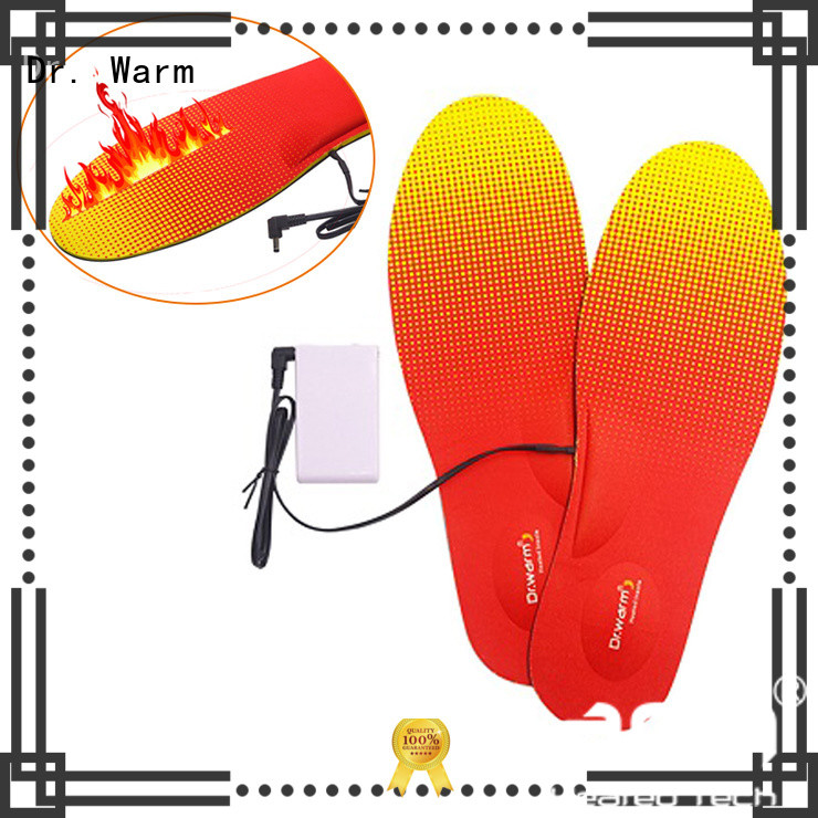 Dr. Warm rechargeable heated bluetooth insoles electric for home