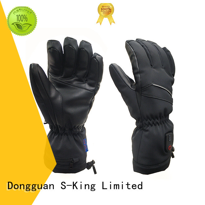 Dr. Warm online heated winter gloves with prined pattern for ice house
