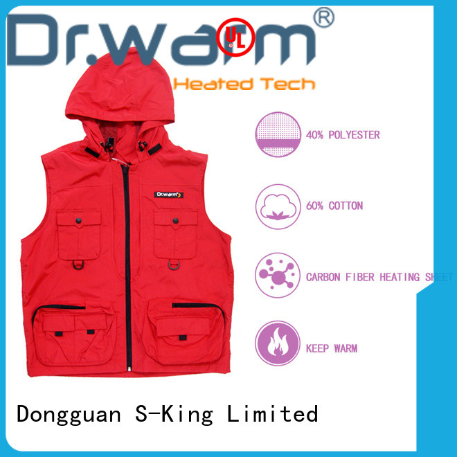 heated battery operated heated vest warming improves blood circulation for ice house