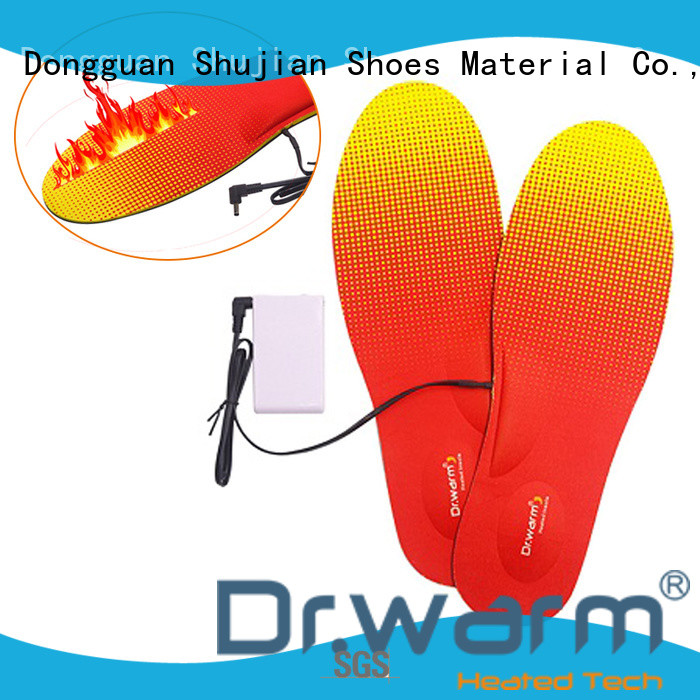 heated shoe insoles rechargeable for ice house Dr. Warm
