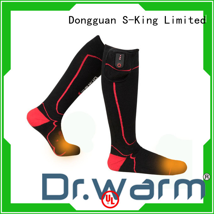 Dr. Warm cotton rechargeable heated socks keep you warm all day for indoor use