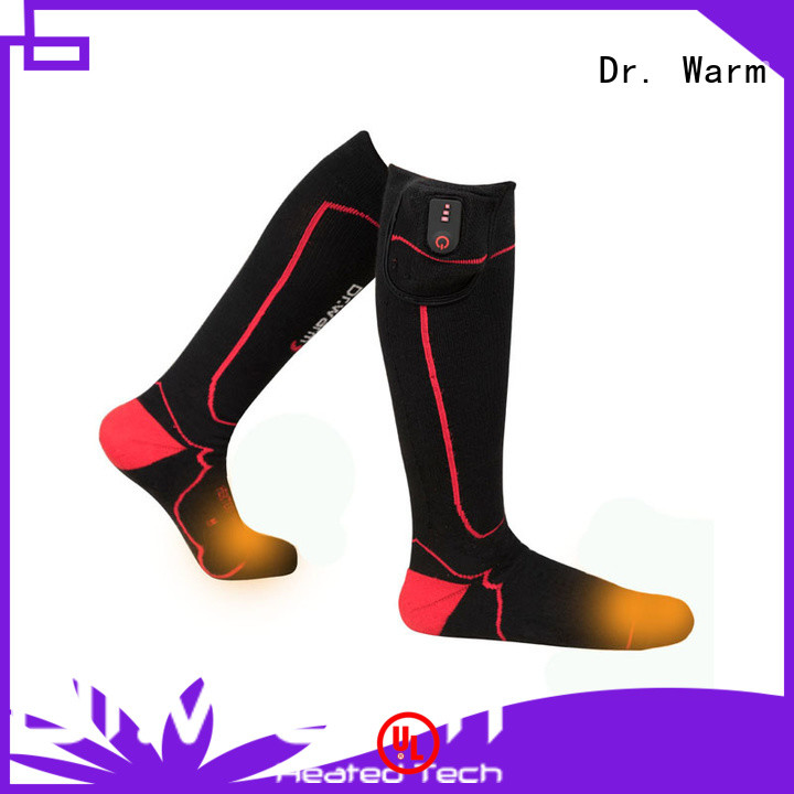 Dr. Warm outdoor best electric socks with prined pattern for home